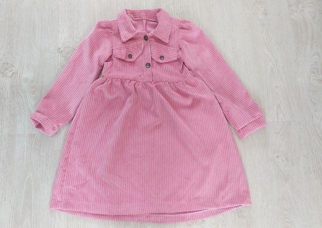 Новое вельветовое платье для девочки