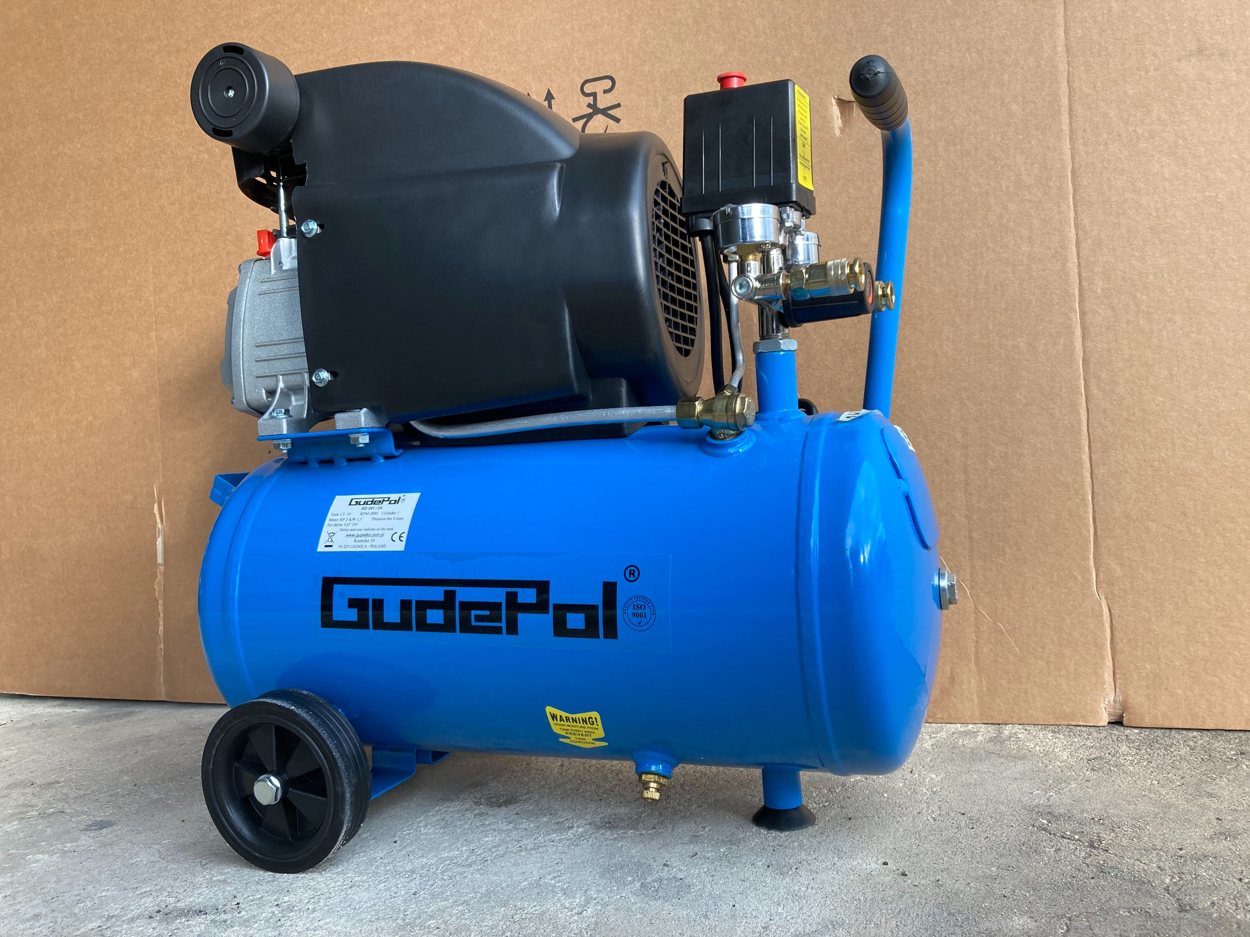 Kompresor olejowy sprężarka GUDEPOL 8 BAR / 24L 230V