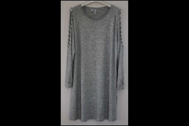 L XL sukienka tunika RAINBOW Bon Prix szara 44 46