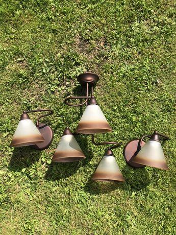 Komplet lamp/ Lampa wisząca/Lampy ścienne