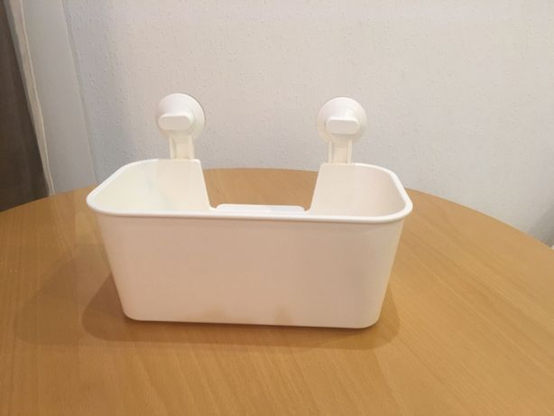 Полка для ванной / туалета на присосках корзинка Икеа Ikea корзина