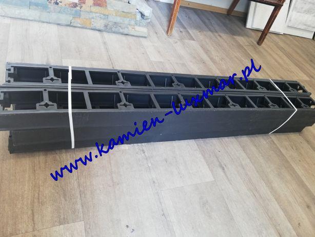 Obrzeża plastikowe /45mm / 1m długości /czarne/kotwy/kamień ogrodowy