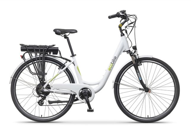 "Rower elektryczny EcoBike City L White 28"" silnik BAFANG"