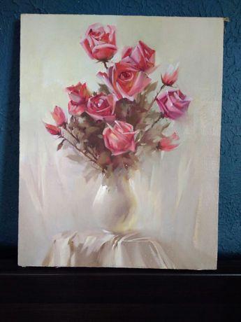 Живопись - натюрморт «Букет роз»