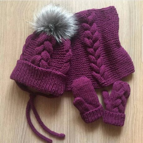 Зимняя шапка,шапочка,шапочка и снуд, ручная работа