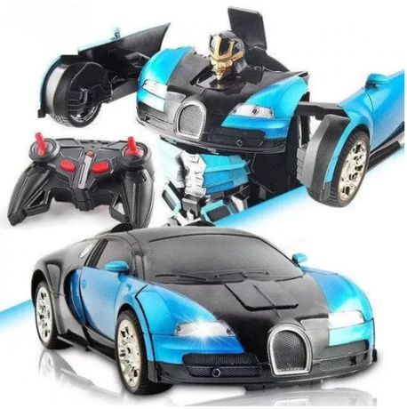 Машинка Робот Трансформер на радиоуправлении с пультом Автобот Bugatti