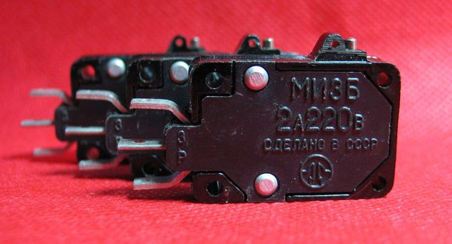 Микропереключатели МИ-3А, МИ-3Б