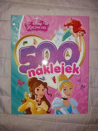 Kolorowanka 500 naklejek Księżniczki