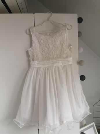 Piękna sukienka kremowa/ecru, Cool Club, rozm. 117, idealna!