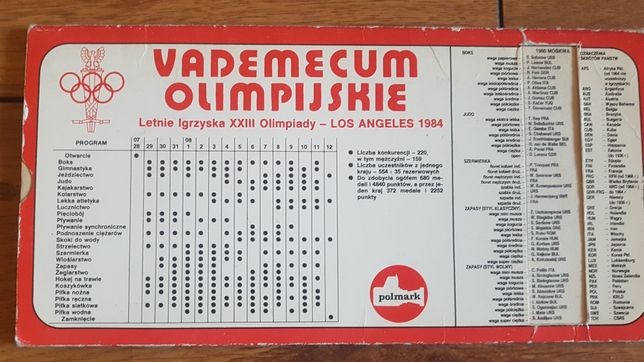 Vademecum olimpijskie letnie igrzyska Los Angeles 1984