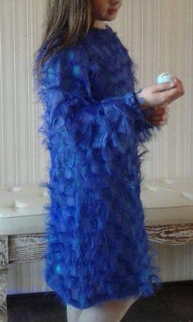 Плаття голубе травка