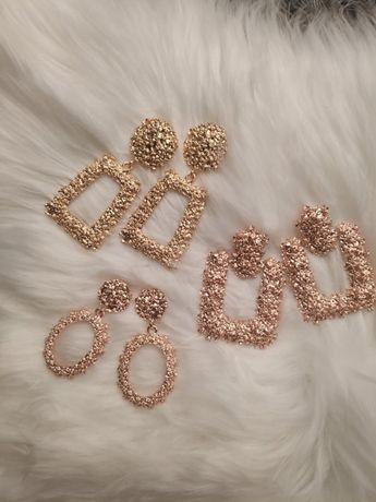 Kolczyki glamour geometryczne (sztuczna biżuteria)