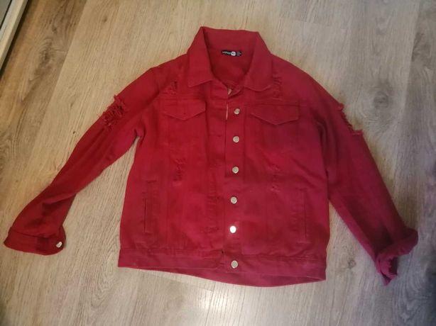 Женская короткая джинсовая куртка рванка