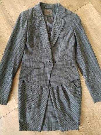 Женский теплый костюм юбка + пиджак жакет