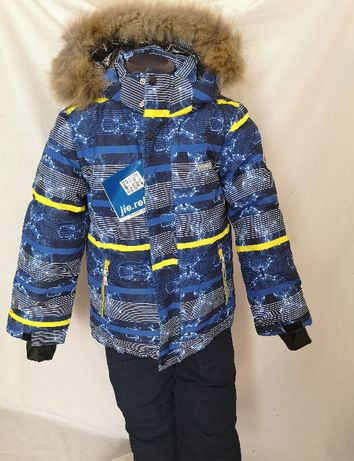 """Новый зимний раздельный костюм """"Полоска"""",синий"""