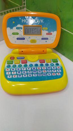 детский ноутбук компьютер дитячий ноутбук планшет іграшковий комп'ютер