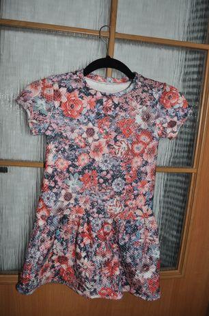 sukienka dziewczęca hand made r.110-116 cm