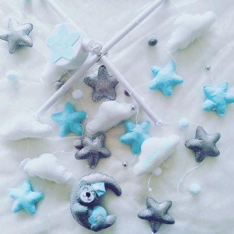 Karuzela do łóżeczka, karuzela z filcu, dekoracja dziecięcego pokoju