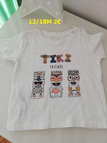 T-shirts 12-18 meses