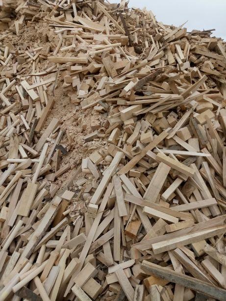 Opał suchy kantówki buk odpad produkcyjny drewno
