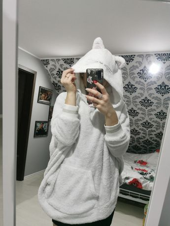 Pluszowy szlafrok/bluza