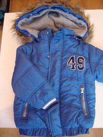 Super ciepła kurtka chłopięca roz. 92