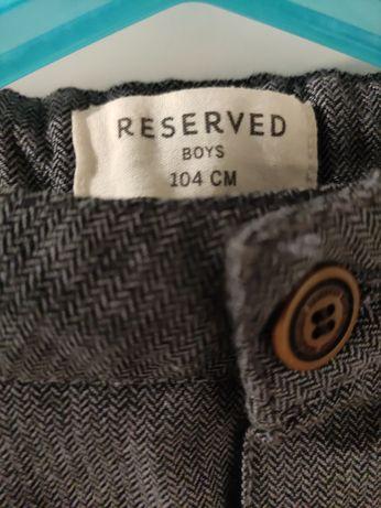 Reserved 104 spodnie jodełka święta