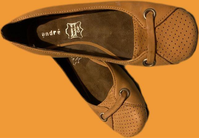 Туфли, балетки кожа