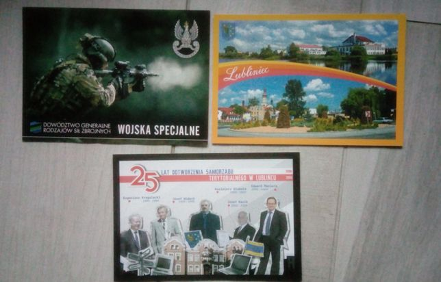 Lubliniec pocztówki - 3sztuki