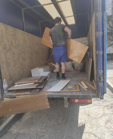 Вывоз мусора 500 грн Газель Зил Камаз хлама строительного