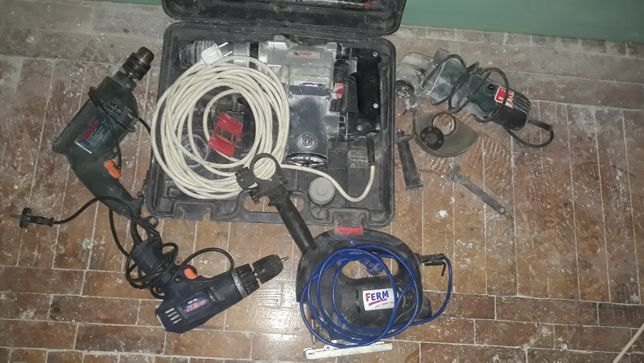 Электронинструмент (перфоратор, дрель, шуруповёрт, лобзик, болгарка)