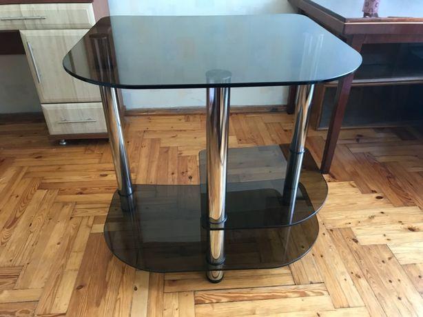 Стол стеклянный. Рабочий, кухонный стол.