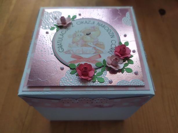 Narodziny dziecka - exploding box, idealna pamiątka, wyjątkowy prezent