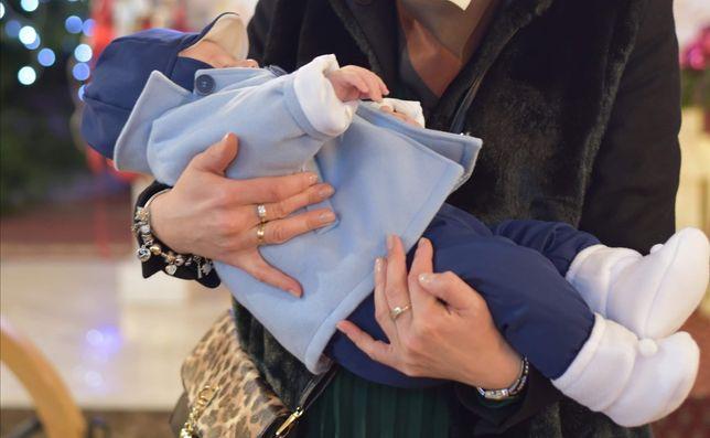 Ubranie do chrztu zimowe r. 74