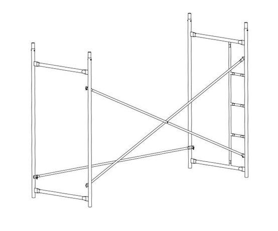 Будівельне риштування(ціна за секцію)