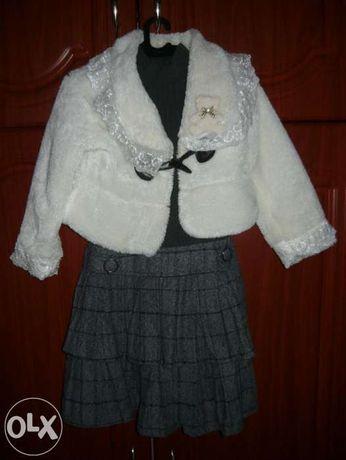 плаття-сарафан+шубка 5-8 років
