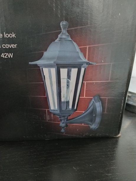 Kinkiet ogrodowy zewnętrzny czarny lampa