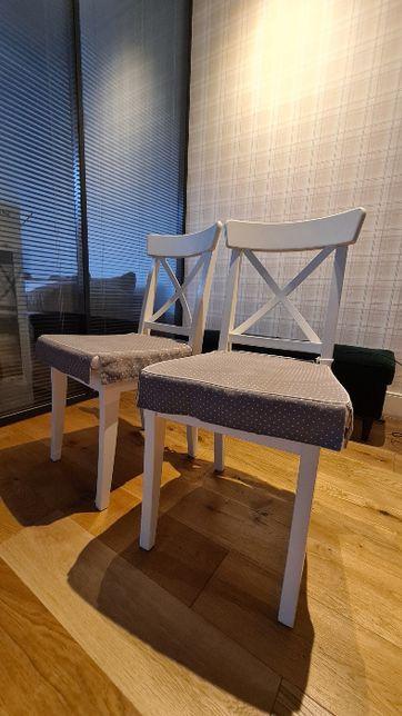 Krzesło IKEA INGOLF Białe 5 sztuk