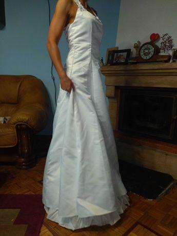 Suknia ślubna biała 38