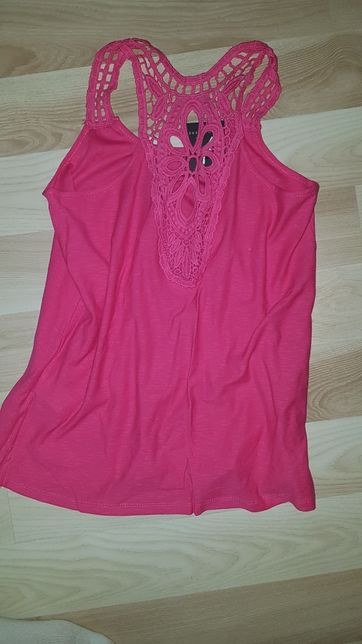 Koszulka bluzka na ramiączka różowa