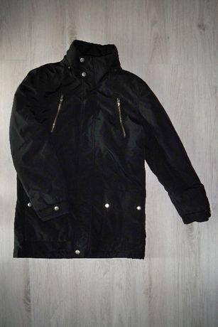 Kurtka jesienna / zimowa KappAhl / czarna / 170 cm / płaszcz parka