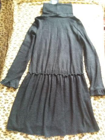 Платье свободное, теплое