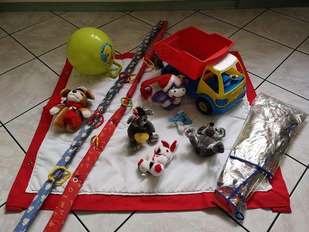 Mata edukacyjna dla niemowląt, pluszaki, zabawki