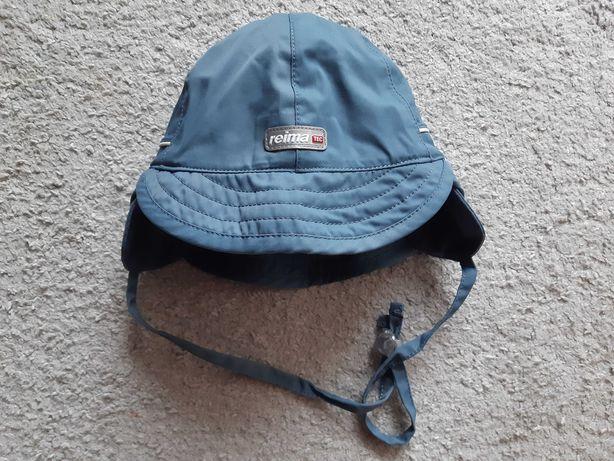 Szara ocieplana czapka z daszkiem