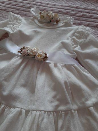 Sukienka na chrzest Milulove roz. 68