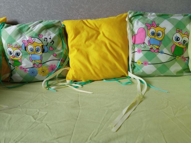 Бортики в кроватку 60*120+кокон и подушка