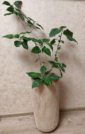 Новый большой напольный Горшок вазон для цветов деревянный