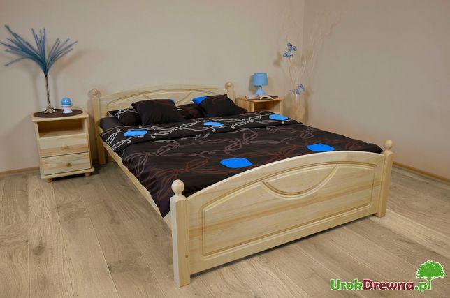 Łóżko drewniane sosnowe KRISTO z toczonymi nogami, SOLIDNE, wysyłka