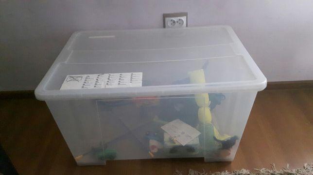 Pudełko z pokrywką, przezroczysty, 78x56x44 cm/130 Ikea