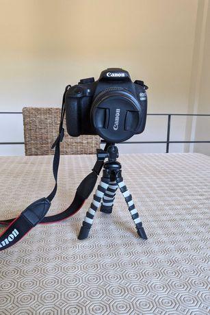 Canon EOS 1200D + Cartão de memória 32GB + Tripé + Bolsa de transporte